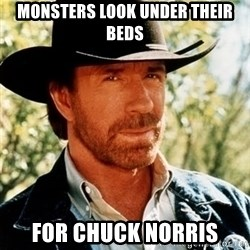 Brutal Chuck Norris - Monsters look under their beds for chuck norris