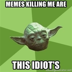 Advice Yoda Gives - Memes killing me are  This idiot's