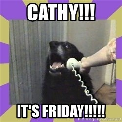 Yes, this is dog! - Cathy!!! It's friday!!!!!
