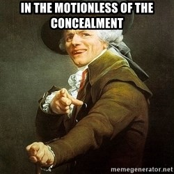 Ducreux - In the motionless of the concealment