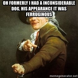 Ducreux - Oh formerly I had a inconsiderable dog, his appearance it was ferruginous