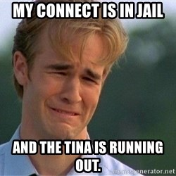 Dawson Crying - My connect is in jail ANd the tina is running out.