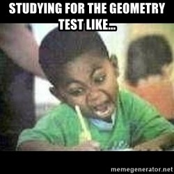 Black kid coloring - Studying for the geometry test like...