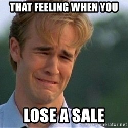 Dawson Crying - That feeling when you lose a SAlE