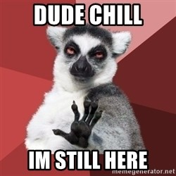 Chill Out Lemur - Dude Chill im still here