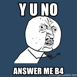 Y U No - Y u no Answer me b4