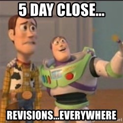 Buzz - 5 day close... revisions...everywhere