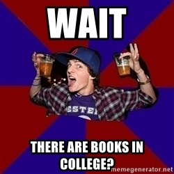 Sunny Student - wait there are books in college?