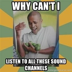 Why can't I hold all these limes - Why can't I  listen to all these sound channels