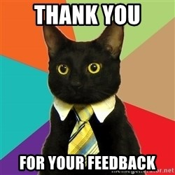 Business Cat - thank you  for your feedback