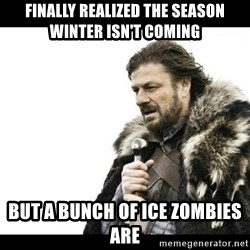 Winter is Coming - finally realized the season winter isn't coming but a bunch of ice zombies are