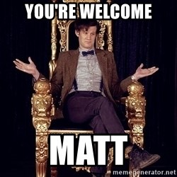 Hipster Doctor Who - You're welcome  MaTt