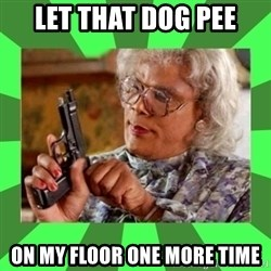 Madea - Let that dog pee on my floor one more time