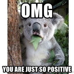 surprised koala - OMG You are just so positive