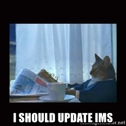 i should buy a boat cat - i should update IMS