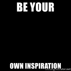 Blank Black - be your own inspiration