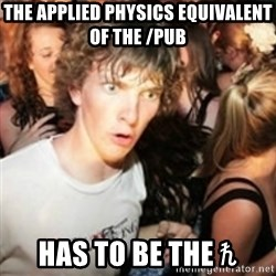 sudden realization guy - The applied physics equivalent of the /pub has to be the ℏ