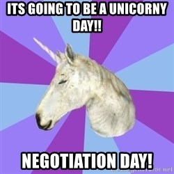 ASMR Unicorn - its going to be a unicorny day!! NEGOTIATION day!