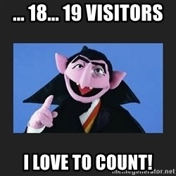 The Count from Sesame Street - ... 18... 19 visitors i love to count!