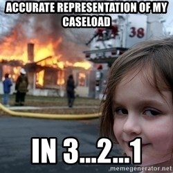 Disaster Girl - Accurate representation of my caseload in 3...2...1