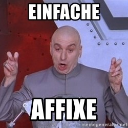 Dr. Evil Air Quotes - Einfache Affixe