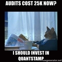 i should buy a boat cat - audits cost 25k now? I should invest in quantstamp