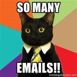 Business Cat - So many  Emails!!