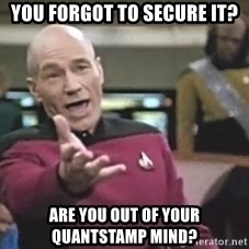 Picard Wtf - you forgot to secure it? are you out of your quantstamp mind?