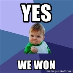Success Kid - Yes WE Won