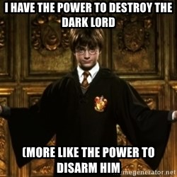 Harry Potter Come At Me Bro - I have the power to destroy the dark lord (More like the power to disarm him