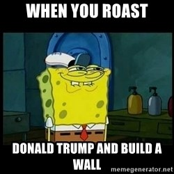 Don't you, Squidward? - When you roast Donald trump and build a wall