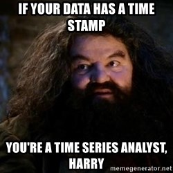 Yer A Wizard Harry Hagrid - IF YOUR DATA HAS A TIME STAMP yOU'RE A TIME SERIES ANALYST, HARRY