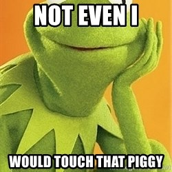 Kermit the frog - Not even i Would touch that piggy