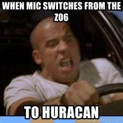 fast and furious - When mic switches from the Z06  To hUracan