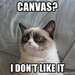 Grumpy cat good - Canvas? I don't like it