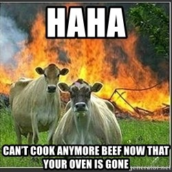 Evil Cows - Haha Can't cook anymore beef now that your oven iS gonE