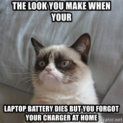 Grumpy cat good - The look you make when your laptop battery dies but you forgot your charger at home