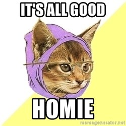 Hipster Kitty - It's all good homie