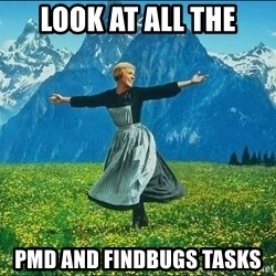 Look at all the things - Look at all the PMD AND FINDBUGS TASKS