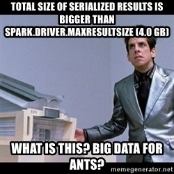 Zoolander for Ants - Total size of serialized results is bigger than spark.driver.maxResultSize (4.0 GB) WHAT IS THIS? BIG DATA FOR ANTS?