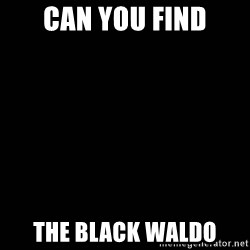black background - Can you find the Black waldo