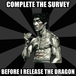 Bruce Lee Figther - Complete the survey Before I release the dragon
