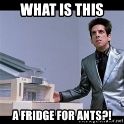 Zoolander for Ants - What is this  A fridge for ants?!