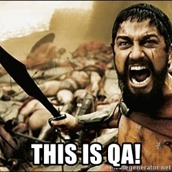 This Is Sparta Meme - THIS IS QA!