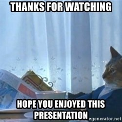 newspaper cat realization - thanks for watching  hope you enjoyed this presentation