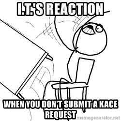Desk Flip Rage Guy - I.T.'s reaction when you don't submit a kace request