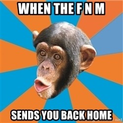 Stupid Monkey - When the F N M Sends you BAck home