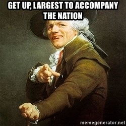 Ducreux - Get up, largest to accompany the Nation