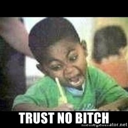 Black kid coloring - Trust no bitch