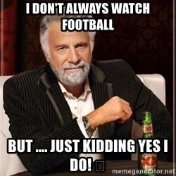 The Most Interesting Man In The World - I don't always watch football But .... Just kidding yes I do! 🏈
